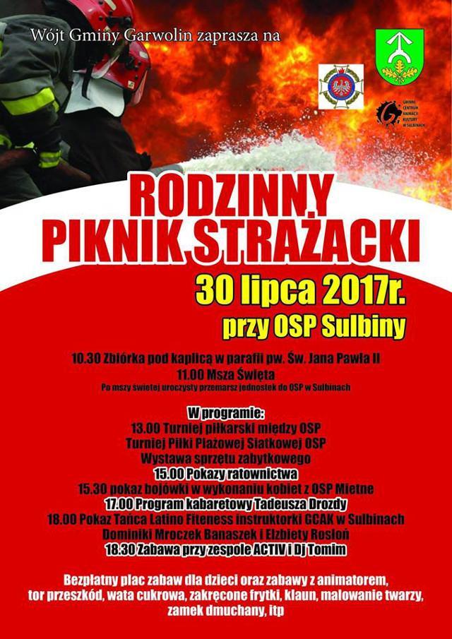Archiwum Rozrywka, Rodzinny Piknik Strażacki Sulbinach niedzielę! - zdjęcie, fotografia