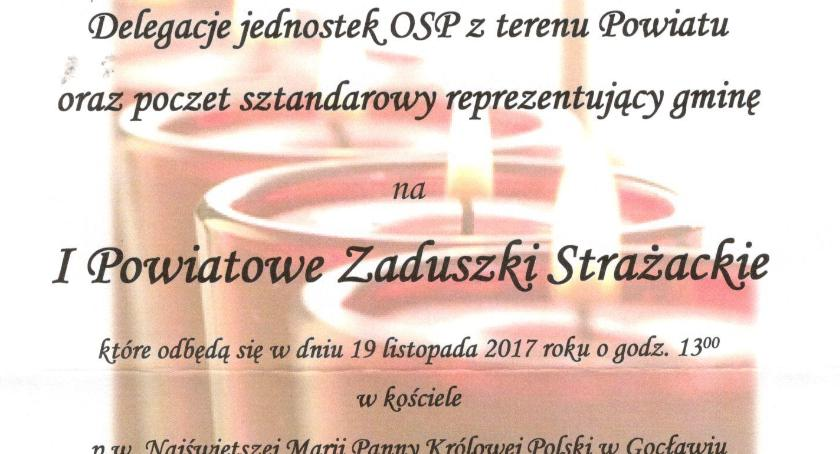 W Powiecie, Powiatowe Zaduszki Strażackie - zdjęcie, fotografia